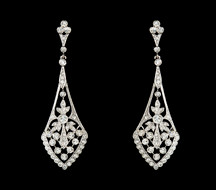 Vintage Style Cubic Zirconia Silver Earrings