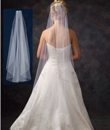 Waltz Length Flutter Cut Wedding Veil V4711 in Many Colors