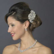 Wedding Hair Comb and CZ Bridal Jewelry Set