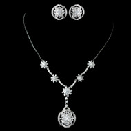 Great Gatsby Inspired CZ Necklace and Earring Wedding Set