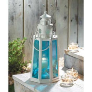 10 Ocean Blue Lighthouse Lanterns Beach Wedding Decor