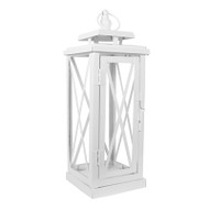 10 Small White Woodside Lanterns for Wedding Decorations