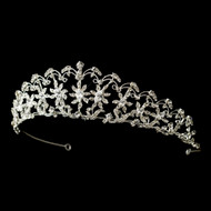 Floral Rhinestone Tiara for Wedding or Quinceanera - sale!