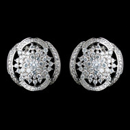 Great Gatsby Inspired CZ Wedding Stud Earrings