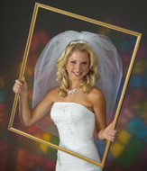 Bubble Wedding Veil Elbow Length V1400 - Choice of Many Colors
