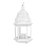 8 Large White Moroccan Candle Lantern Wedding Decorations