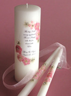 Floral Pink This Day Wedding Unity Candle
