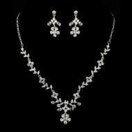Floral Rhinestone and Crystal Wedding Jewelry Set