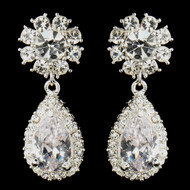 Crystal Dangle Wedding and Prom Earrings