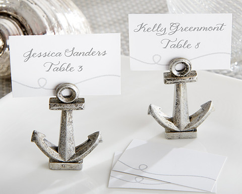 Nautical Theme Wedding Anchor Place card Holders
