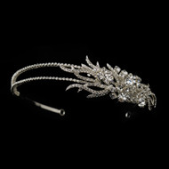 Double Band Side Accent Rhinestone Wedding Headband
