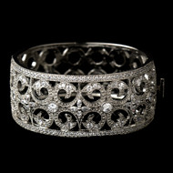 CZ Vintage Look Wedding Bangle Bracelet