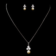 5 sets Boxed CZ and Ivory Pearl Bridesmaid Jewelry
