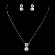 5 sets Boxed  Ivory Pearl and CZ Bridesmaid Jewelry
