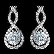 Petite Eternity Infinity Earrings with Clear CZ Crystals