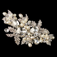 Freshwater Pearl and Rhinestone Wedding Hair Clip