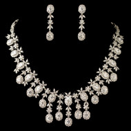 Majestic Multi Cut CZ Wedding Jewelry Set