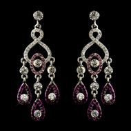 5 Pair Amethyst Chandelier Bridesmaid  Earrings