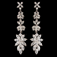 Marquise CZ Dangle Wedding Earrings