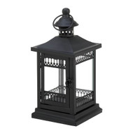 12 Black Victorian Grace Candle Lantern Wedding Centerpieces