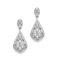 Glamorous Art Deco CZ Wedding Earrings