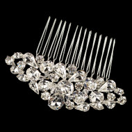 Multi Cut Rhinestone Wedding Hair Comb