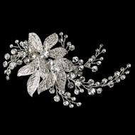 Dazzling Floral Rhinestone Wedding Hair Clip