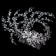 Extravagant Rhinestone Hand Wired Twigs Wedding Hair Comb