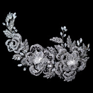 Stunning Rhinestone Floral Rose Wedding Hair Comb