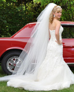 7 Layer Chapel Length Wedding Veil V6102