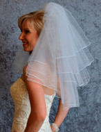 Four Layer Short Wedding Veil V6134 by JL Johnson Bridal