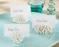 144 Seven Seas Coral Beach Wedding Place Card Holders