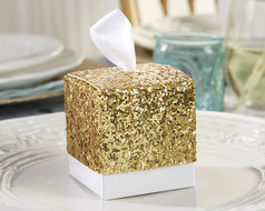 120 All that Glitters Gold Glitter Wedding Favor Boxes