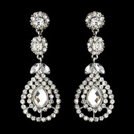 3 Pair Crystal Chandelier Bridal and Bridesmaid Earrings