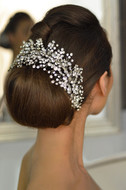Elena Designs E765 Rhinestone Sprig Wedding Headpiece