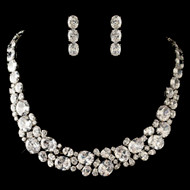 Multi Cut CZ Statement Wedding Jewelry Set