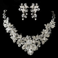 Stunning Crystal and Rhinestone Wedding Jewelry Set ne9695