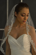 Lace Cathedral Length Wedding Veil Elena Designs E1146L