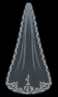 Lace Cathedral Length Wedding Veil enVogue V1597C