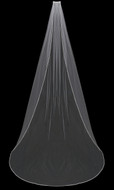 Beaded Pearl Edge Cathedral Length Wedding Veil enVogue V802C