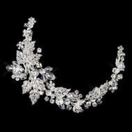 Crystal and Rhinestone Wedding Tiara Clip