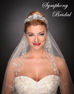 Regal Wedding Tiara by Symphony Bridal 7504CR