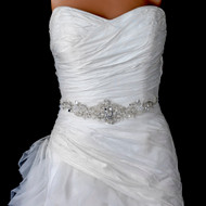 Elaborately Beaded Ivory Wedding Dress Belt