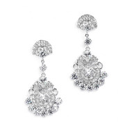 Vintage Glam CZ Wedding Earrings by Mariell