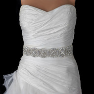 Rhinestone and Pearl Beaded Wedding Dress Belt