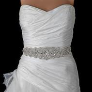 Crystal Rhinestone Beaded Wedding Dress Belt