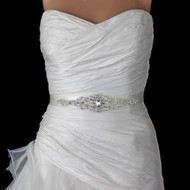 White Crystal Rhinestone Wedding Dress Belt