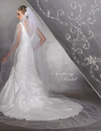 Beaded Embroidery Cathedral Wedding Veil 5936VL Symphony Bridal