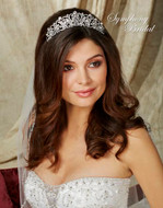 Crystal Wedding Tiara Symphony Bridal 7703CR