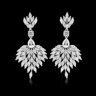 Regal CZ Chandelier Wedding Earrings